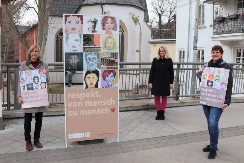 Kunstaktion zum Tag gegen Rassismus