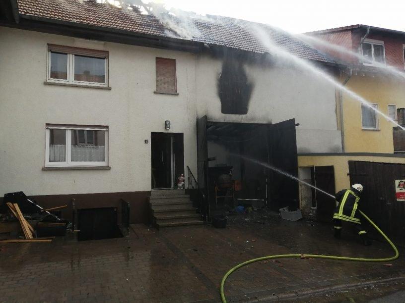 Feuer in Scheune