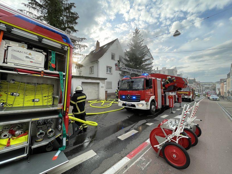 Küchenbrand in der Gluckstraße