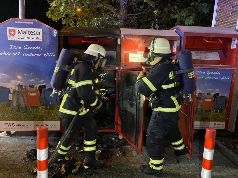 Containerbrand in Bad Kreuznach
