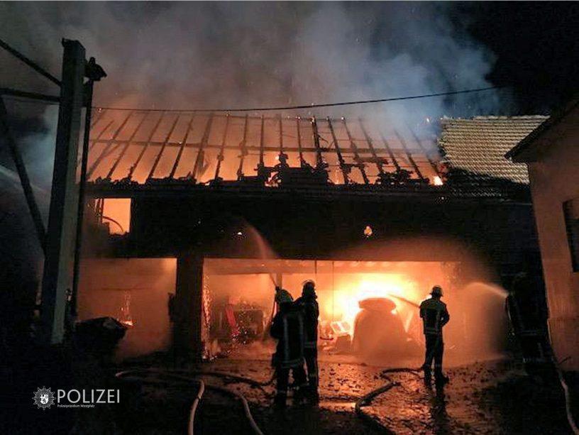 Scheunenbrand Unkenbach