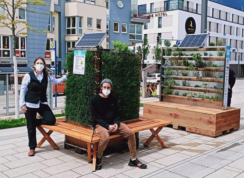 Mobile vertikale Gärten in Ingelheim