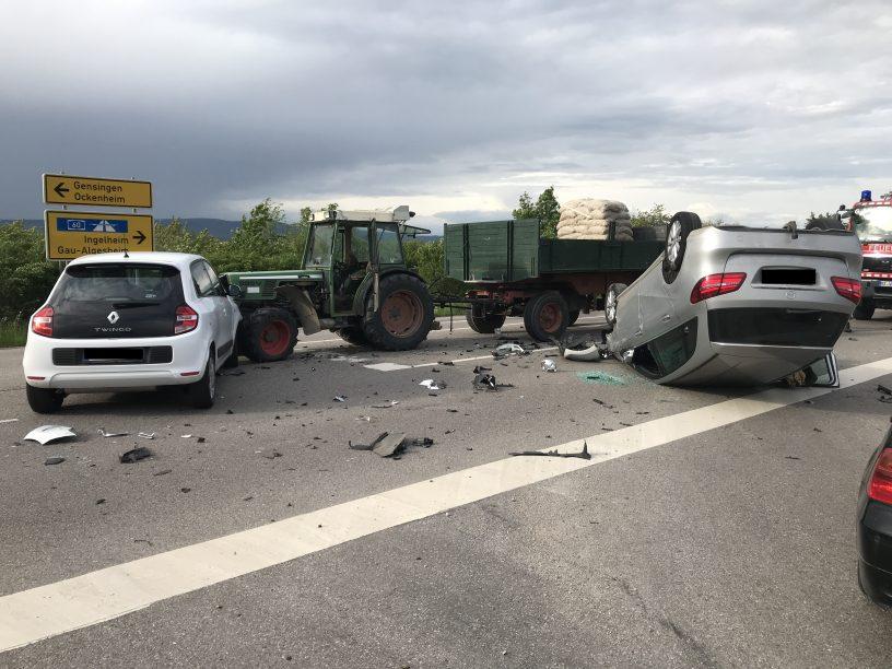 Verkehrsunfall bei Gau-Algesheim