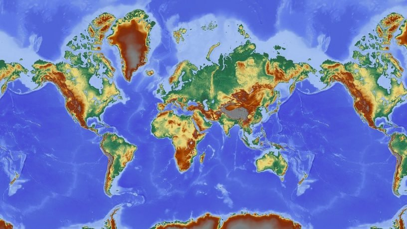 Map Of The World Map Relief Map  - Hans / Pixabay