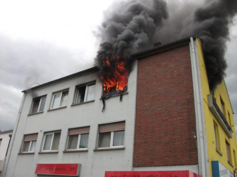 Brand am Schneider-Kreisel