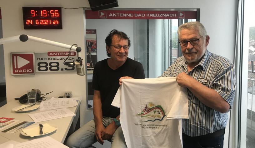 Zu Gast: Leo Bretz und Dieter Krewit  vom Verkehrs- und Verschönerungsverein Feilbingert