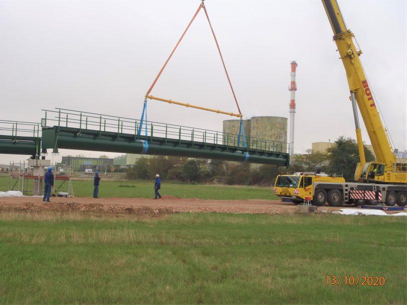 Neue Brücke sichert Erreichbarkeit der Kläranlage