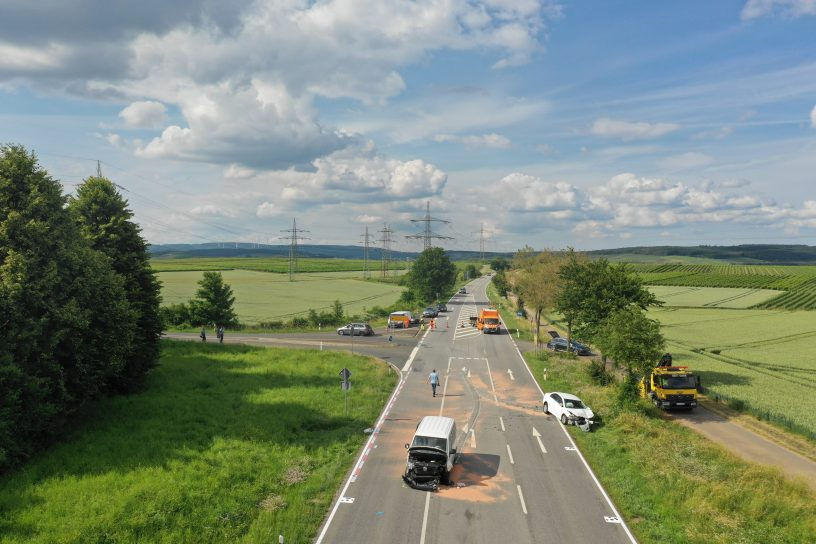 Schwerer Verkehrsunfall bei Guldental