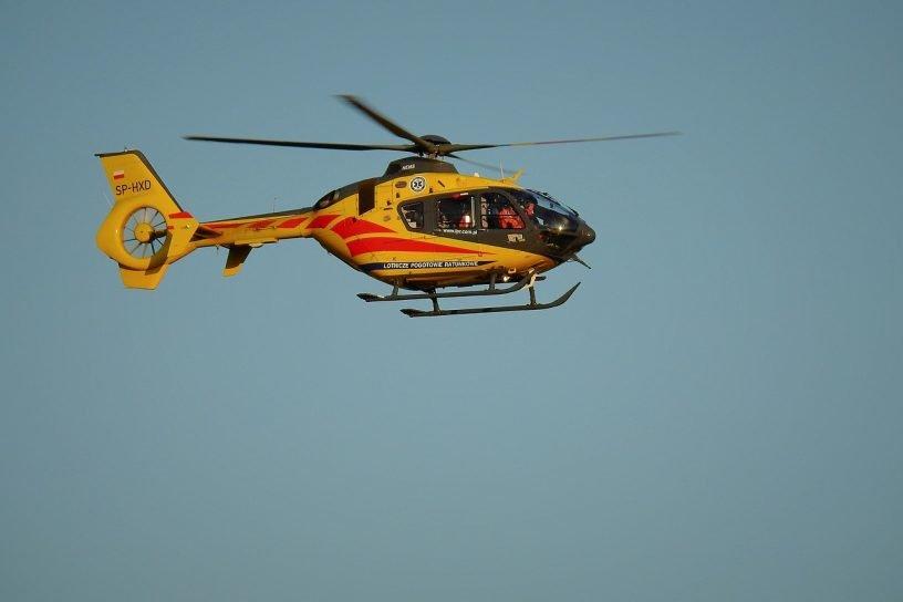 Gasleitungskontrolle per Hubschrauber