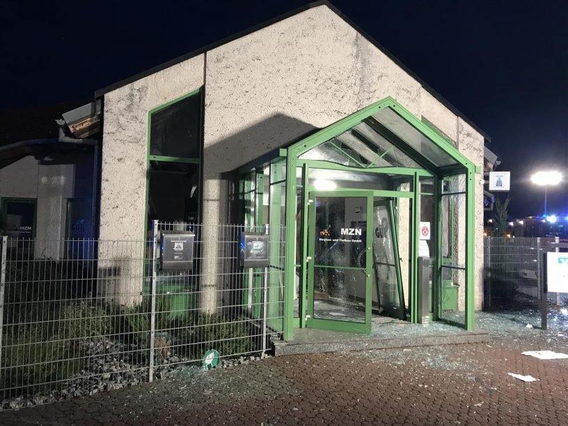 Sprengung eines Geldautomaten in Bingen