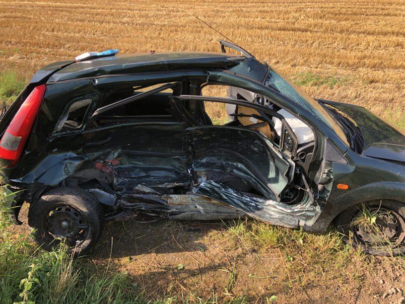 Schwerer Unfall auf der B41