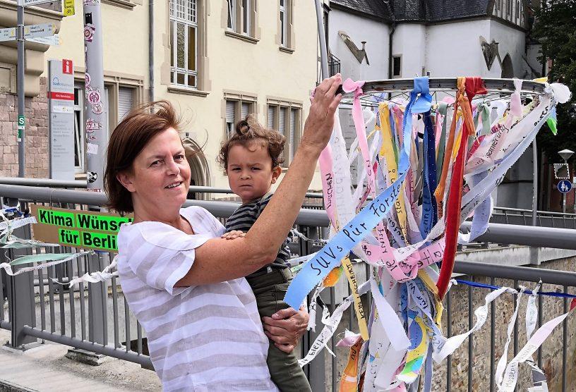 Klimabänder radeln nach Berlin