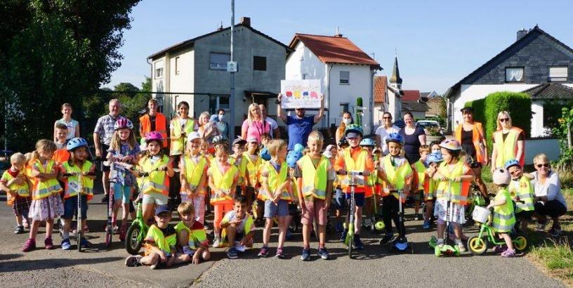 KiTa-Kinder sammeln sportlich für Flutopfer