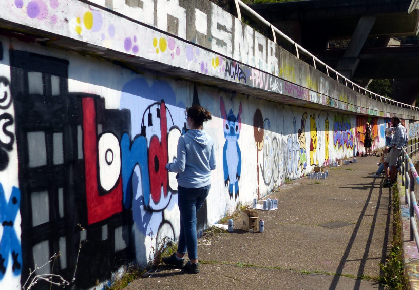 Neue Graffiti-Kunstwerke in Idar-Oberstein