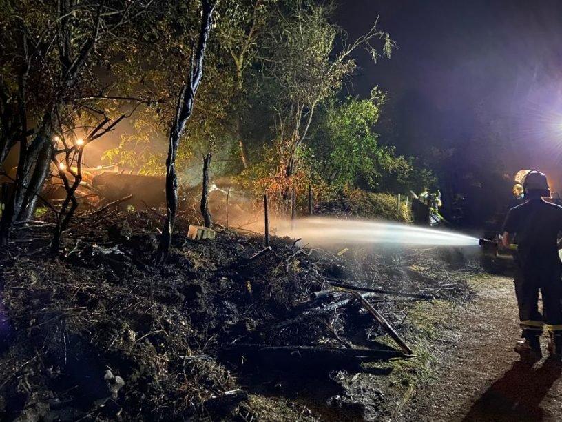 Brand bei Kleingartenverein
