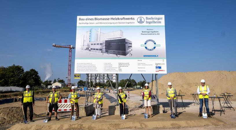 Neues Biomasseheizkraftwerk bei Boehringer